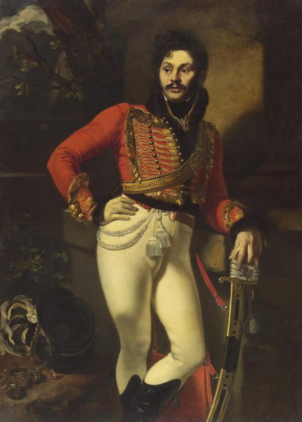 """Орнест Кипренский, """"Портрет Е.В. Давыдова"""", 1809 год"""