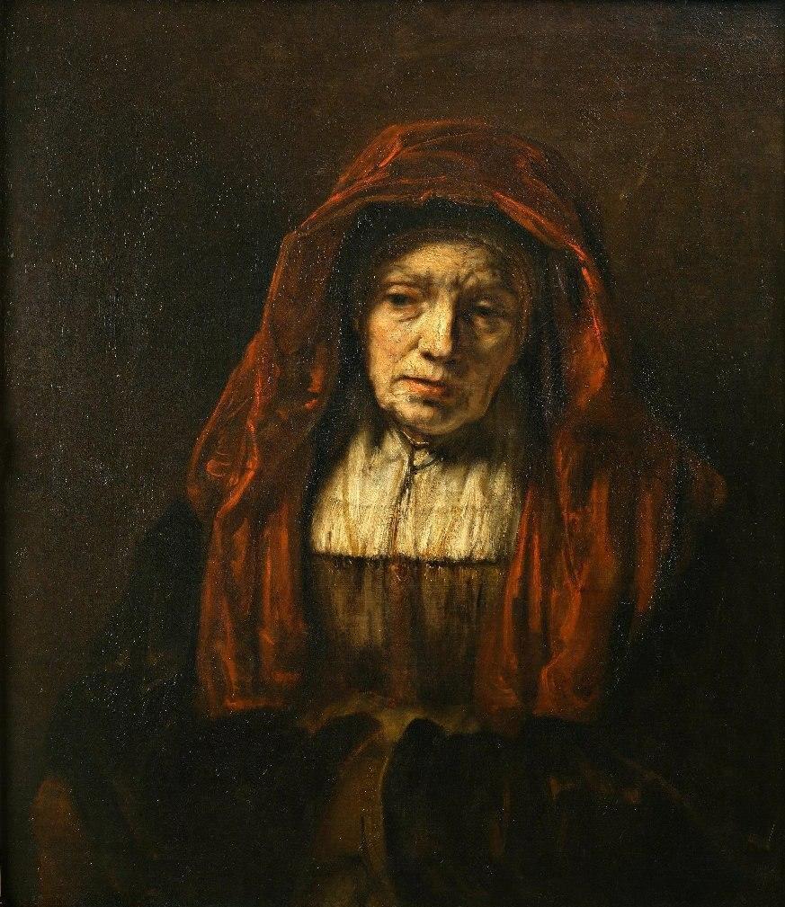 Image result for Рембрандт «Портрет старушки», 1665