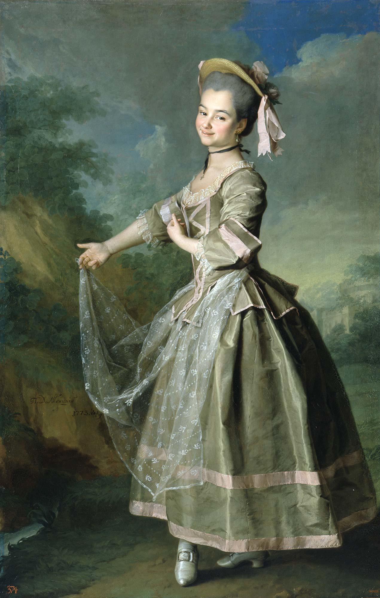Dmitry Levitsky, Portrait of Ekaterina Nelidova, 1773, Russian museum, St. Petersburg, Russia.