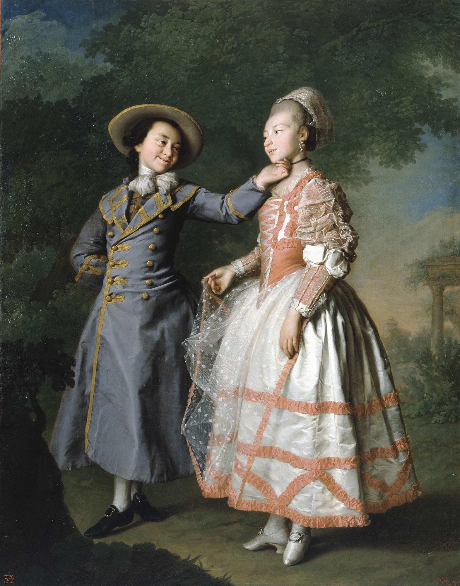 Dmitry Levitsky, Portrait of Ekaterina Khruscheva and Ekaterina Khovanskaya, circa 1773, Russian museum, St. Petersburg, Russia.