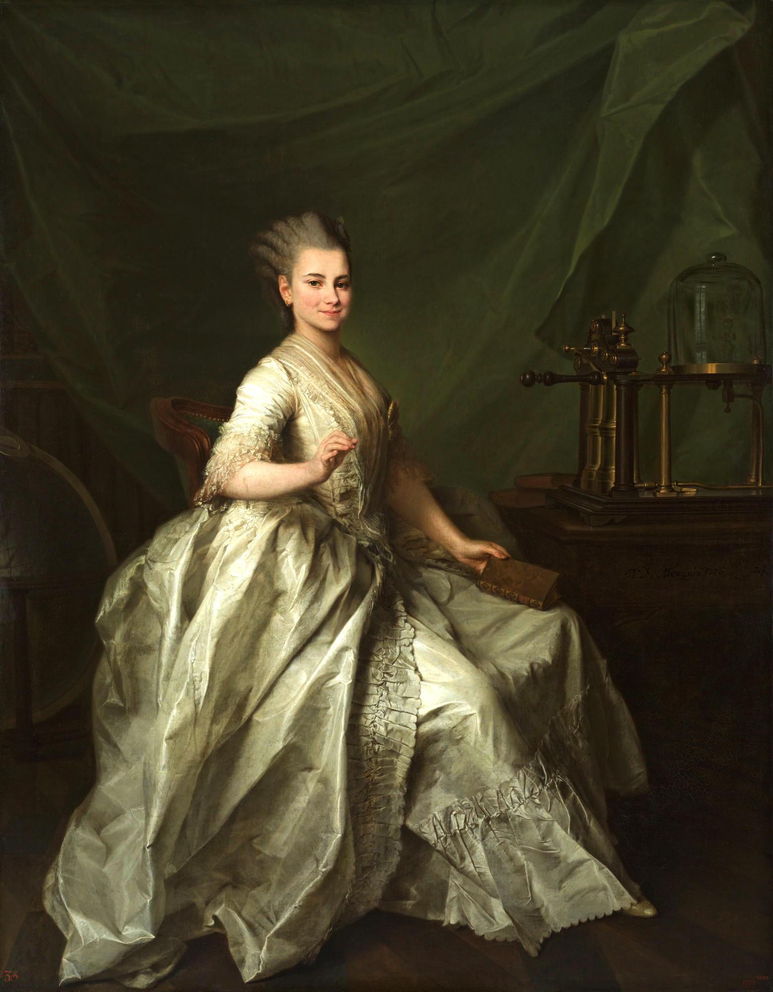 Smolyanki: Dmitry Levitsky, Portrait of Ekaterina Molchanova, 1776, Russian museum, St. Petersburg, Russia.