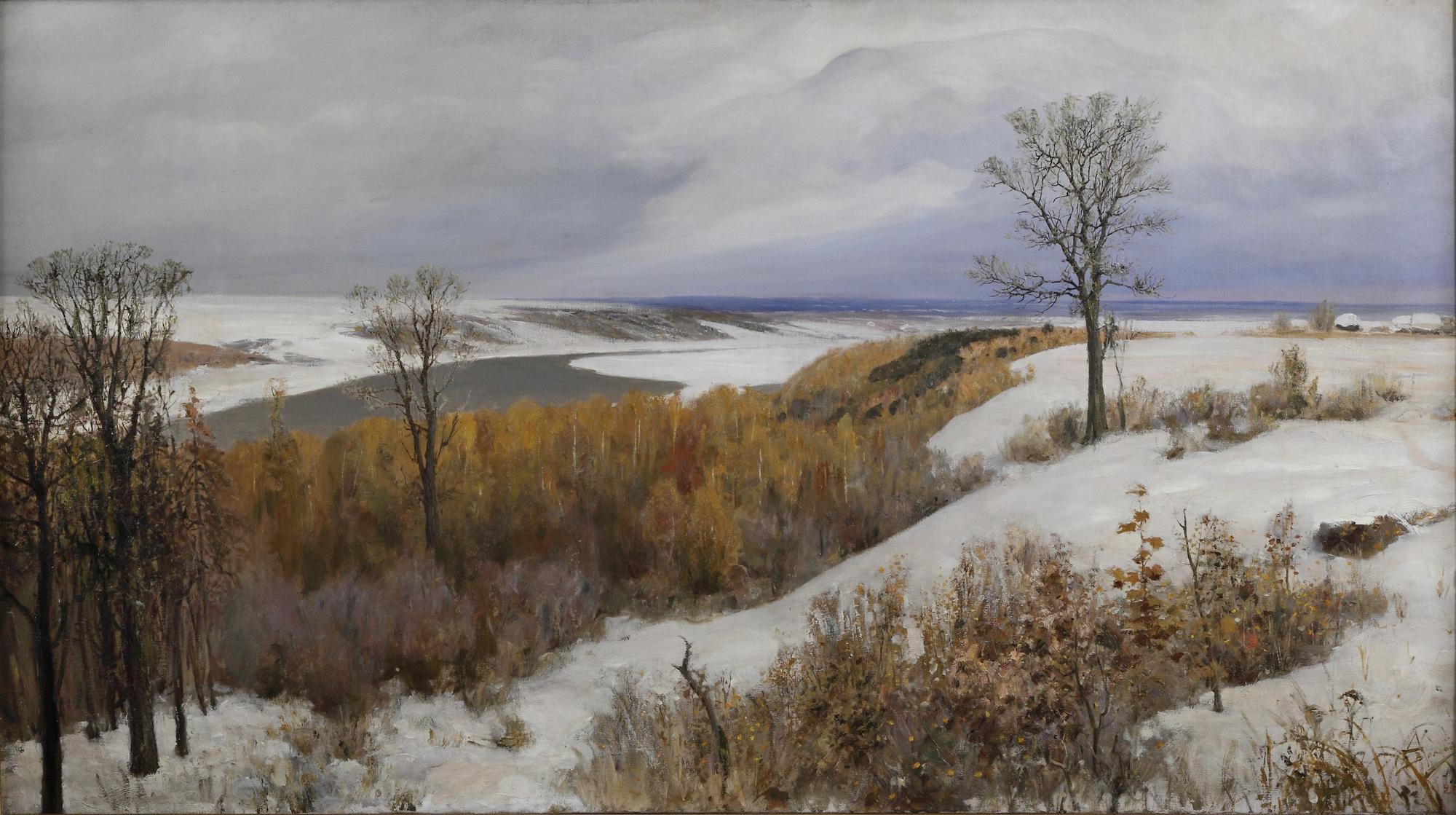 Василий Поленов. Ранний снег. Бёхово