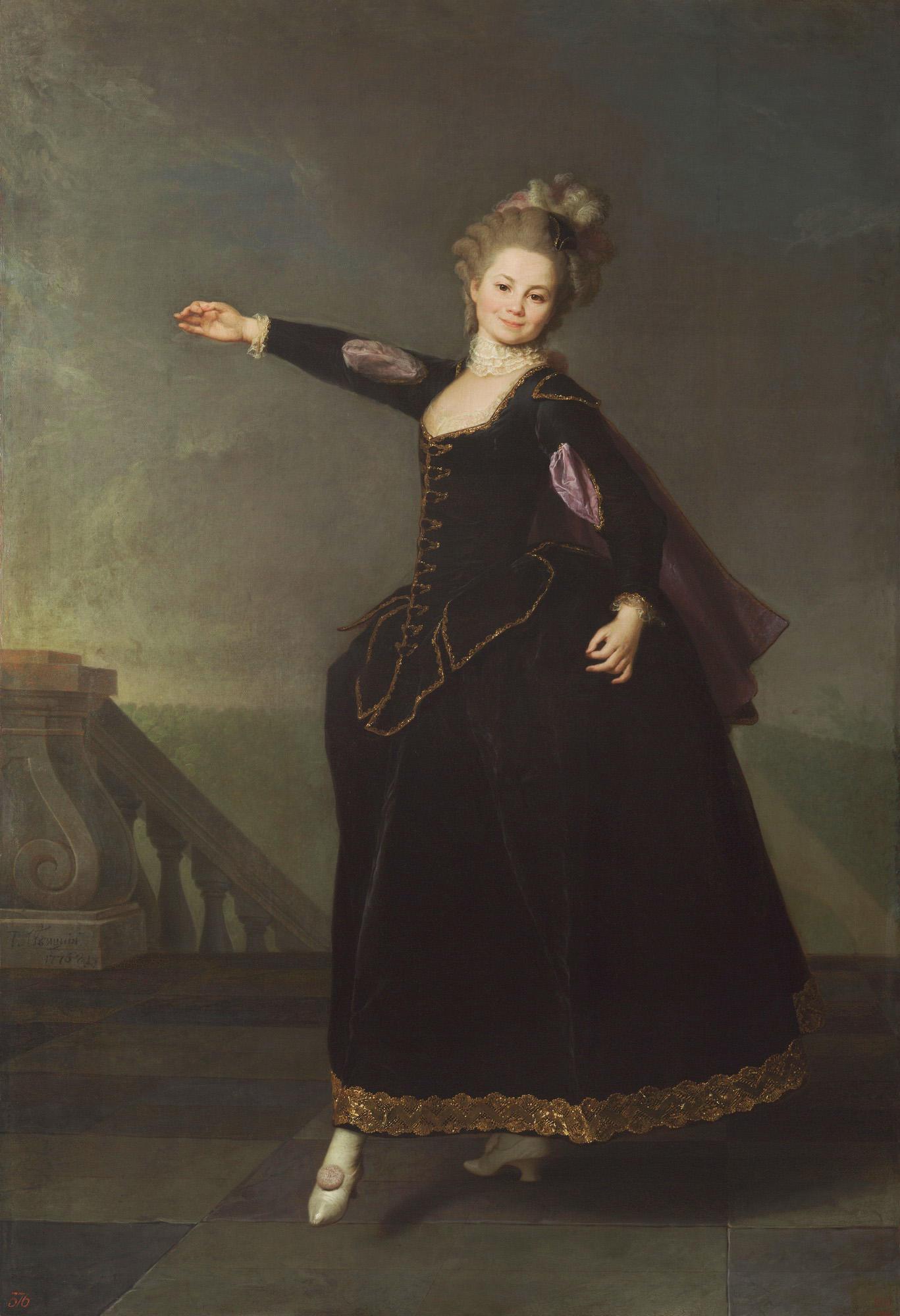 Smolyanki: Dmitry Levitsky, Portrait of Natalia Borschova, 1776, Russian museum, St. Petersburg, Russia.